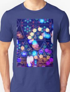 Colorful Psychedelic Bokeh Lights Shapes Amusement Park Tokyo T-Shirt
