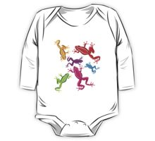 Coloured crazy frogs One Piece - Long Sleeve