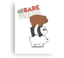 We Bare Bears - Cartoon Network Canvas Print