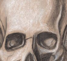Skull with headphones Sticker