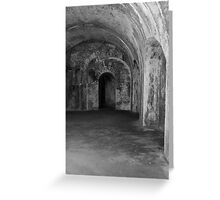 Inside The Tunnels Greeting Card