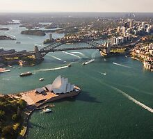 Sydney Harbour from the Sky by Ana Andres-Arroyo