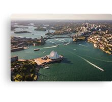 Sydney Harbour from the Sky Canvas Print