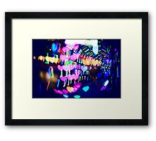 Couple In Colorful Light Tunnel Hearts Triangles Tokyo Framed Print