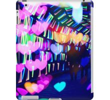 Couple In Colorful Light Tunnel Hearts Triangles Tokyo iPad Case/Skin