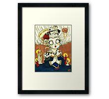 """""""The Queen Likes Skulls"""" Framed Print"""