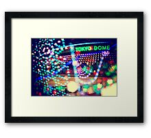 Love Tokyo Dome Colorful Psychedelic Heart Bokeh Lights  Framed Print