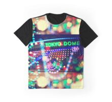 Love Tokyo Dome Colorful Psychedelic Heart Bokeh Lights  Graphic T-Shirt