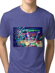 Love Tokyo Dome Colorful Psychedelic Heart Bokeh Lights  Tri-blend T-Shirt