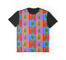 TMNT - Ninja Turtle Checkers Pixel Pattern Graphic T-Shirt
