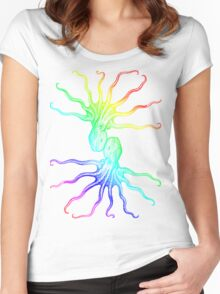 Rainbow Octopus Women's Fitted Scoop T-Shirt