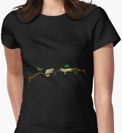 Wanna Be Friends? - Baby Panther Chameleons Womens Fitted T-Shirt