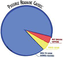 Headache Causes Pie Chart Photographic Print