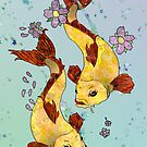 Two (Koi) Fish by AHakir