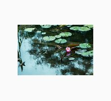 Single Pink Lily Flower & Pond Lily Pads Classic T-Shirt