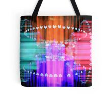 Speeding Hearts Abstract Colorful Light Trails Tote Bag