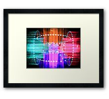 Speeding Hearts Abstract Colorful Light Trails Framed Print