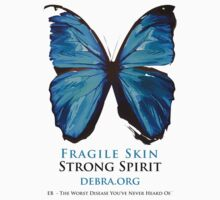 Beautiful Blue Butterfly Proceeds donated to DebRa.org One Piece - Short Sleeve