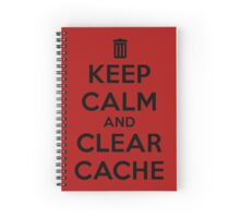 Keep calm and clear cache Spiral Notebook