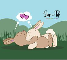 Skip and Pip Cuddles for calendar by Catherine Dair