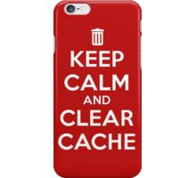 Keep calm and clear cache v2 iPhone Case/Skin