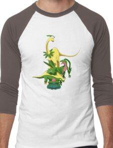 Pokesaurs - Grassiosaurs Men's Baseball ¾ T-Shirt