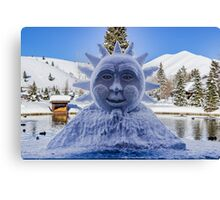 The Sun in Sun Valley Village, Idaho Canvas Print