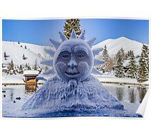 The Sun in Sun Valley Village, Idaho Poster