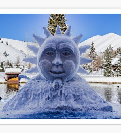 The Sun in Sun Valley Village, Idaho Sticker