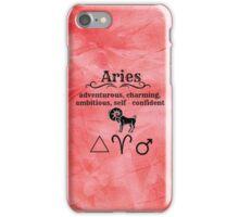 Aries Star Sign Design iPhone Case/Skin