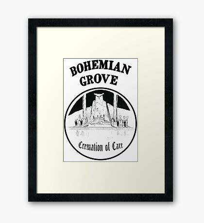 Bohemian Grove Cremation of Care Framed Print