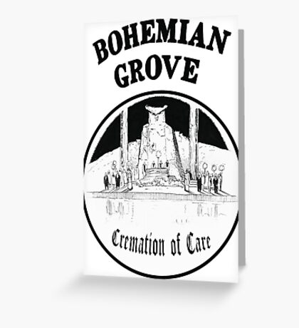 Bohemian Grove Cremation of Care Greeting Card