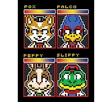 Star Fox Comm Faces - Pixel Art Photographic Print