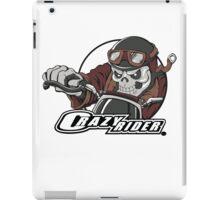 Crazy Rider dirt bike skull rider. iPad Case/Skin