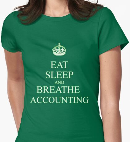 Living of  accounting Womens Fitted T-Shirt