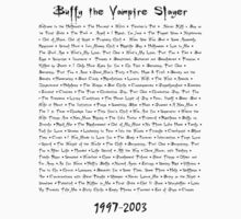 Buffy the Vampire Slayer: Episodes by natstev