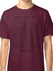Buffy the Vampire Slayer: Episodes Classic T-Shirt