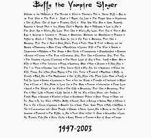 Buffy the Vampire Slayer: Episodes T-Shirt