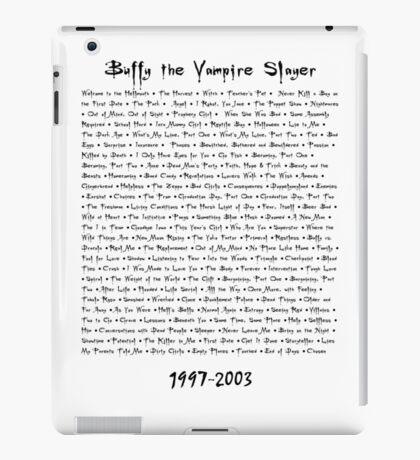Buffy the Vampire Slayer: Episodes iPad Case/Skin