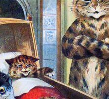 Louis Wain - Kittens Rocking The Crib Sticker