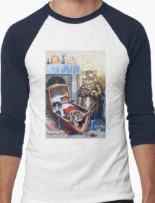 Louis Wain - Kittens Rocking The Crib Men's Baseball ¾ T-Shirt