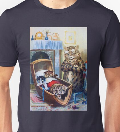 Louis Wain - Kittens Rocking The Crib Unisex T-Shirt