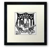 PATRIOT COCK! Framed Print