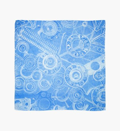 Techno 2 Monotype Ghost Print in Blue Scarf