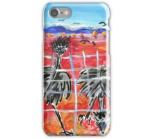 The Barrier , Outback  Emus.  iPhone Case/Skin