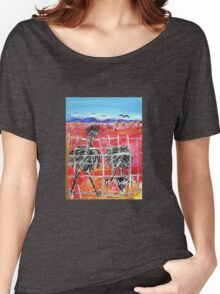 The Barrier , Outback  Emus.  Women's Relaxed Fit T-Shirt