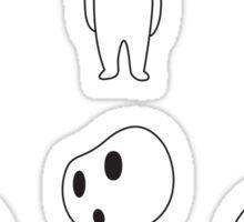 6 Kodamas Sticker