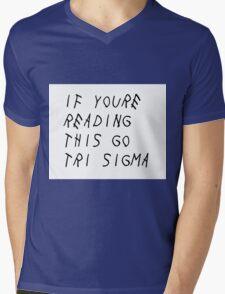 Sigma Sigma Sigma - Drake Mens V-Neck T-Shirt