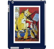 Cat Plays Violin for Dancing Rats - Victorian-era Anthropomorphic Art iPad Case/Skin