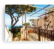 Italian Villa with ocean views : Anacapri Canvas Print